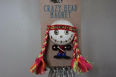 Crazy Head Wood Bohemian Magnet - NEW WITH TAG