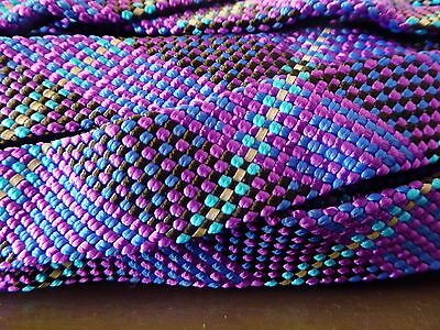 """1"""" x 100 ft. Hollow/Flat Braid rope hank.Nylon w/ reflective tracer. US Made."""