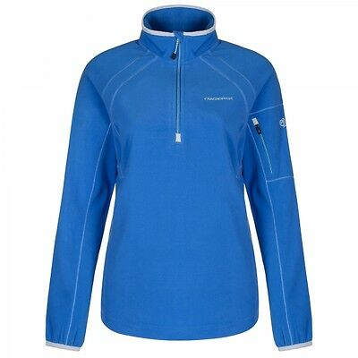 Craghoppers Womens Ladies Inessa Half Zip Walking Hiking Jumper Fleece True Blue