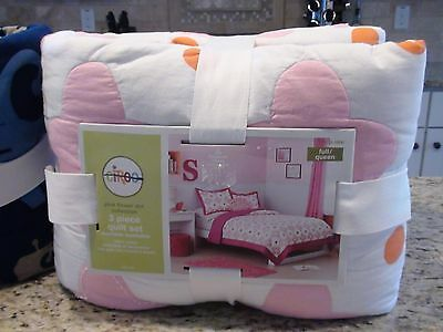 NEW! Circo Full/Queen 3 Piece Quilt and Sham Set