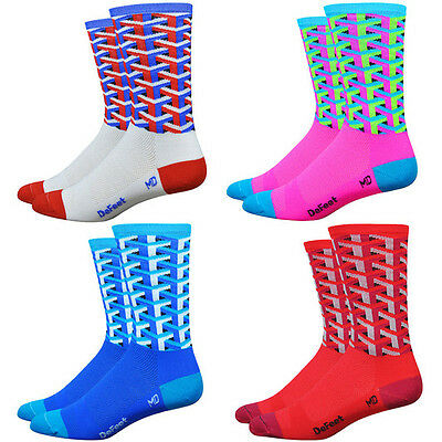DeFeet Aireator Framework 6 Cycling Road/MTB SockS COOLMAX Ecomade Blue/Pink/Red