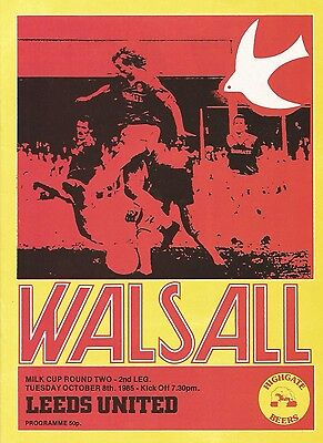 Walsall v Leeds United, 8 October 1985, League Cup