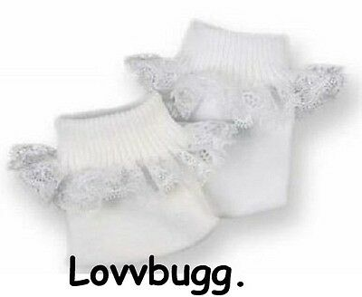 White Socks Lace for 15 18 inch Doll Clothes American Girl Bitty Baby or Preemie