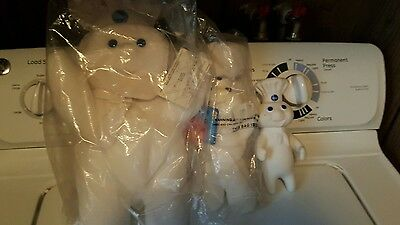 Pillsbury Doughboy Lot Three Bean Bag Giggling Plastic Sealed Collectible