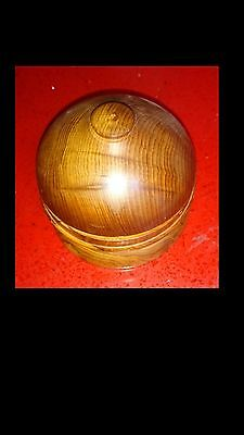 Wooden box with nicely turned domed top suitable for pins or trinkets