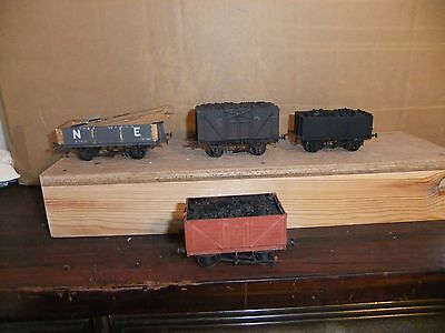 4 Kit Built EM gauge SR, NE & plain goods wagons, not boxed