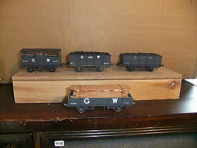 4 Kit Built (metal/plastic) EM gauge GWR goods wagons, not boxed