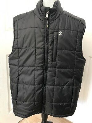 IZOD PERFORMX mens large FULL ZIP PUFFER VEST JACKET BLACK NICE