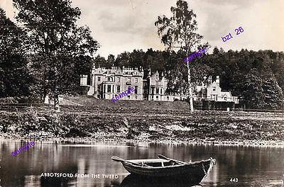 SCOTLAND RIVER TWEED ABBOTSFORD 1960s,WOULD YOU LIKE TO LIVE THERE ? NOT POSTED