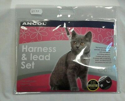 BNWT Ancol Harness & Lead Set for Cats & Kittens - RRP £7.95