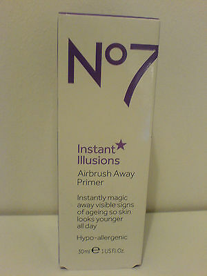 Boots No7 Instant Illusions Airbrush Away Primer 30ml Brand New BNIB RRP £16.50