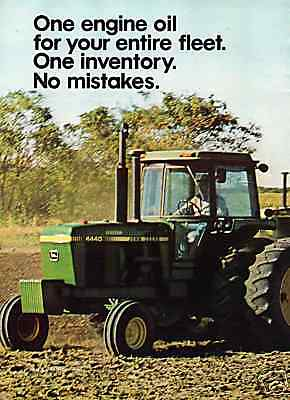 1978 Mobil Oil with John Deere 4440 Farm Tractor 2 Page Print Ad
