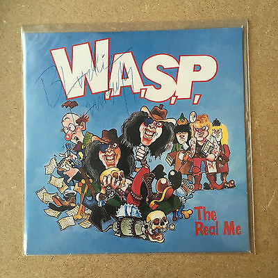 "WASP / The Real Me / UK 7"" Sleeve Only, signed By Blacke Lawless W.A.S.P."