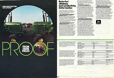 1983 John Deere 4640 & 4650 Farm Tractor 2 Page Print Ad