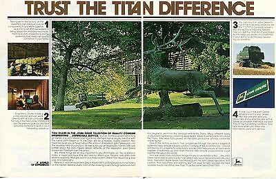 1980 John Deere Factory Assembly Line 8820 & 7721 Titan Combine Farm Tractor Ad
