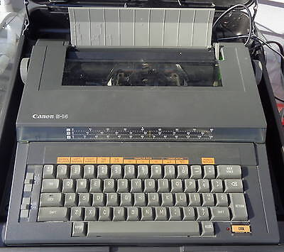 VTG Canon Electric Typewriter S14 With Hard Case & Extra Ribbons VGC