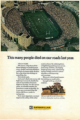 1972 Caterpillar CAT Tractor Co 55,000 Death Tole on the Roads Print Ad