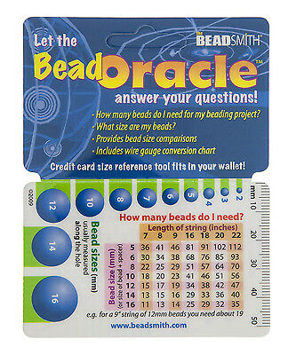 Bead Oracle Bead Reference Card, Wallet Size, Not for UK