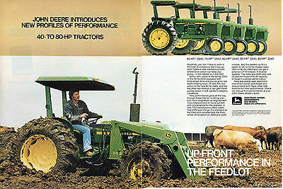 1980 John Deere 2940 2640 2440 2240 & 2040 Farm Tractor 2 Page Print Ad