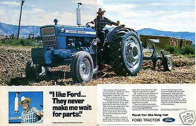 1974 Ford 5000 2 Page Farm Tractor Print Ad