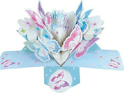 Happy Birthday Butterflies 3D Pop Up Card Special Day Mom Nan Granny Daughter