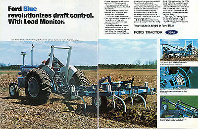 1973 Ford Blue 7000 Farm Tractor 2 Page Print Ad