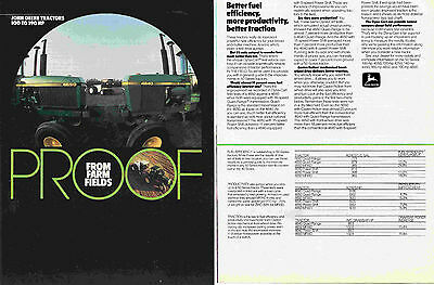 1984 John Deere 4640 & 4650 Farm Tractor 2 Page Print Ad