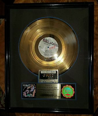 Hall & Oats-Live At The Apollo-Rca-One Of A Kind-Framed-Rare-Real Deal-Gold-Lp !