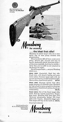 1965 Mossberg Model 320B 22 Rifle Print Ad