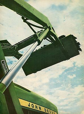 1967 John Deere 1020 2 Page Farm Tractor Print Ad