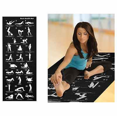 Two Elephants Back Strength Yoga Mat WITH POSES Size: 68″ × 24″ SOFT TRAVEL