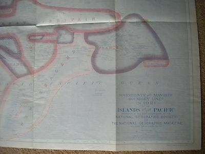 Vintage Map Of The Islands Of The Pacific 1921