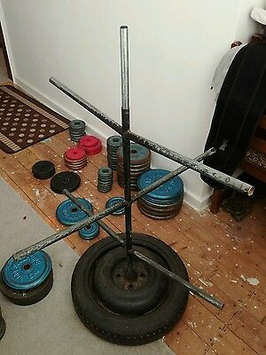 hand made rotary gym weights storage stand , weights not included.