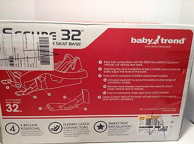 Baby Trend Infant Car Seat Base Secure 32 New In Box