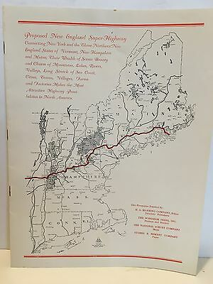 Saratoga Springs to Bar Harbor New England Super Highway RARE Prospectus 1930