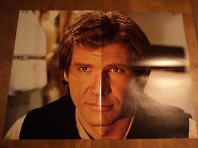 1983 Return of the Jedi 2 sided poster Hans Solo Star Wars 16 X 22