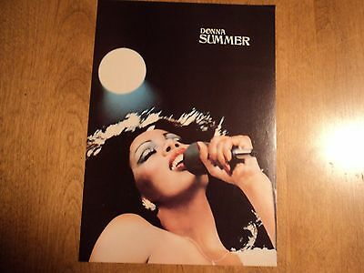 1980s Donna Summer Linda Ronstadt 2 sided Magazine Pin Up Poster 8 X11 Rock