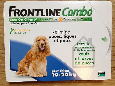 Frontline combo 10-20 kg - 6 pipettes