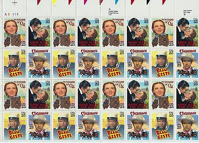 PLANCHE DE 32+4 TIMBRES/STAMPS Gone with the Wind, The Wizard of Oz, Beau Geste