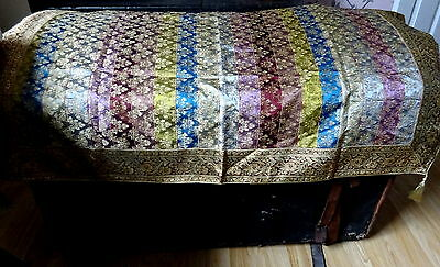 VINTAGE Malaysian Exclusive Songket Gold Thread Brocade Panel Throw