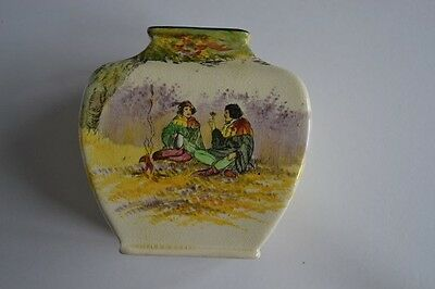 Royal Doulton Seriesware small Vase Robin Hood - Under the Greenwood Tree