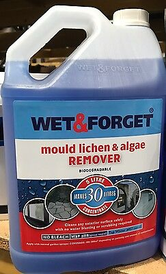 WET AND FORGET MOULD, ALGAE AND LICHEN REMOVAL Garden 5 Litre - Bargain