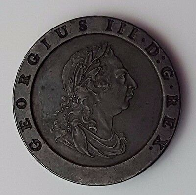 1797 Copper Cartwheel Twopence - Great Britain - King George III - English Coin