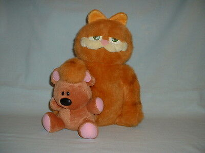 GARFIELD & POOKY BEAR Large Cuddly Soft Plush Toy (THE MOVIE/JIM DAVIS/BOOK/CAT)
