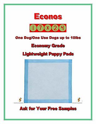 """300-17x24"""" Economy Lightweight One Dog One Use Puppy Training Pads FREE SAMPLES"""