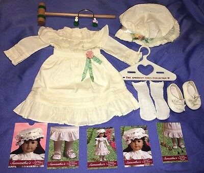 American Girl SAMANTHA Lawn Party Croquet Dress Outfit with Shoes and Socks!