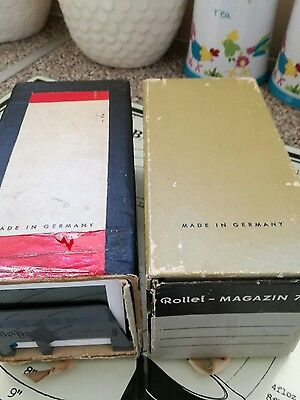 Rollei magazin 77 boxes with ORIGINAL slides trays with glass slides 70x70