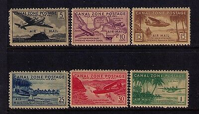 Canal Zone Airmail Stamps Sc# C15-20 Mlh/mh