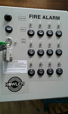 Fire Alarm Howler Control Panel Used