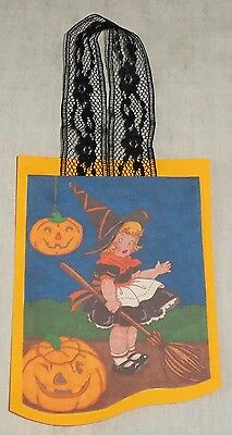 Handmade Halloween Vtg Style Which Costume Jack O Lantern Colored  Ornament